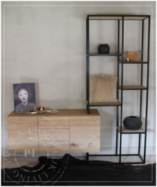 Maatwerk wandmeubel, tv meubel industrieel MAX
