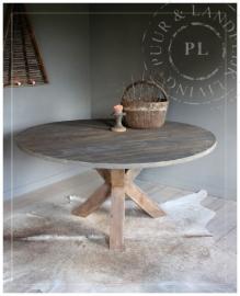 Landelijke eettafel / DRIEPOOT / old wood