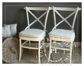 Cross Chair riviera white