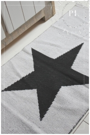 Vloerkleed / STAR / Black & White