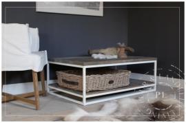 Maatkwerk / landelijke salontafel / GRACIEUS DOUBLE / old wood