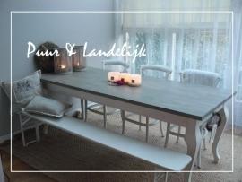 Maatwerk / Landelijke Dining Table / Queen Ann Twist / old weathered