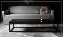 Stoere strakke chique salontafel / eiken / black (ook andere kleuren)