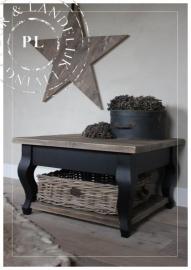 Maatwerk / landelijke salontafel / Queen Ann / Black / Old wood