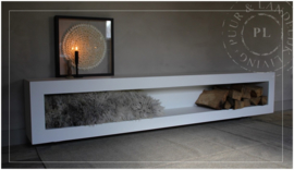 Maatwerk / stoer tv meubel / PURE WHITE 2.0