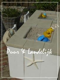 Landelijke zand- /watertafel (zandbak, waterbak)