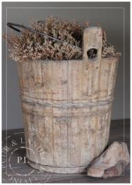 Oude houten emmer / VERKOCHT