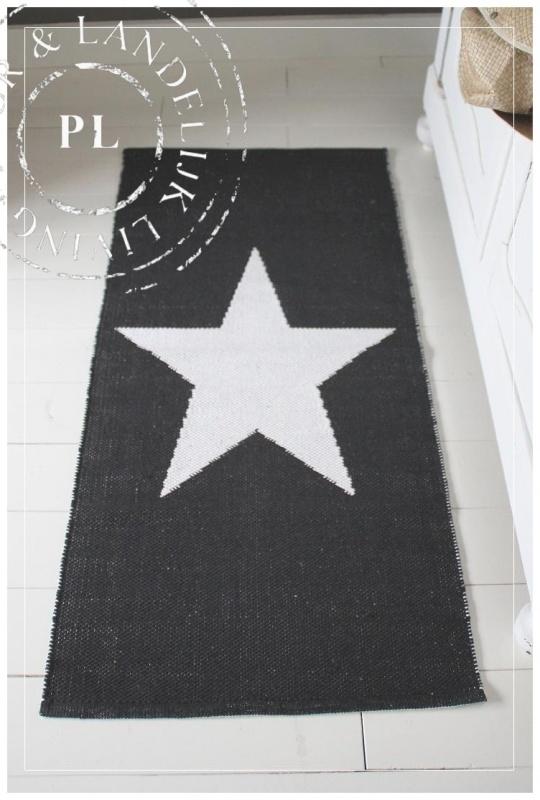 Vloerkleed / STAR / Black & White