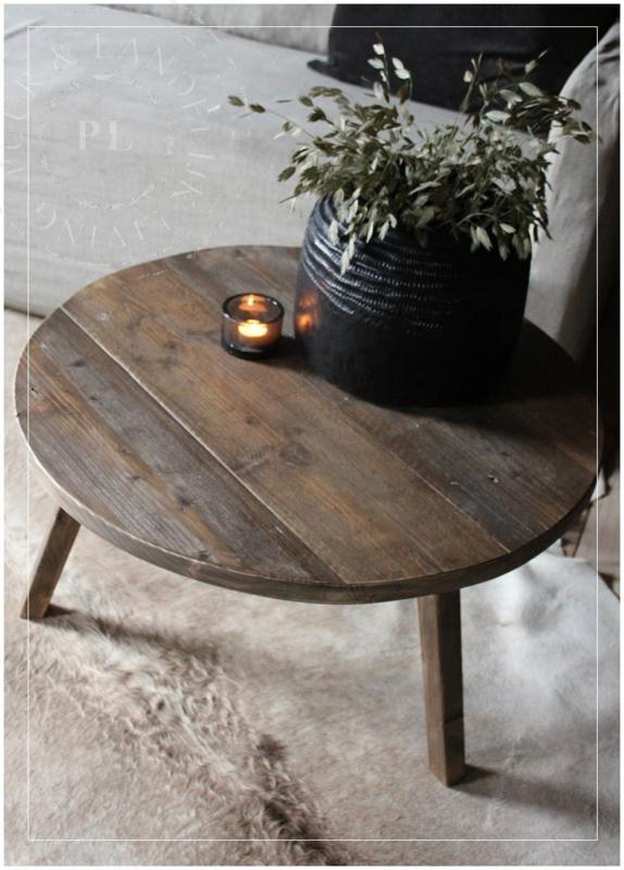 Onwijs Maatwerk / stoere ronde salontafel SPIDER / old wood | ☆ New KS-42