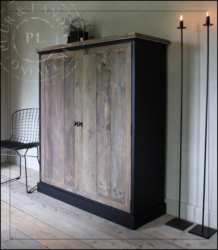 Maatwerk Kast Tv Meubel Old Wood Black Vulcano