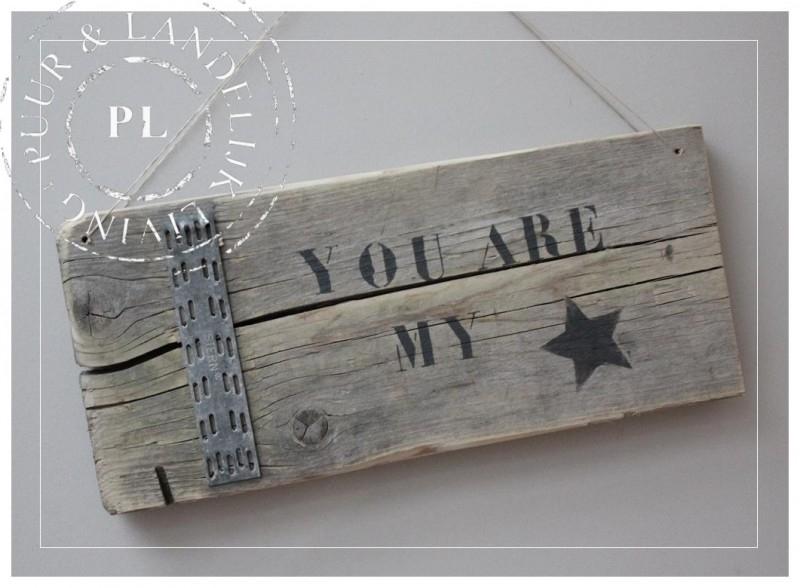 Stoer hangbordje / MY STAR