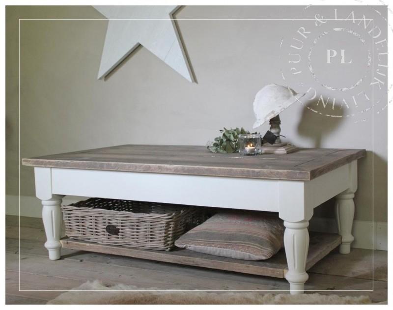Maatwerk / landelijke salontafel / old wood BLOOM
