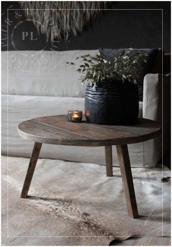 Verrassend Maatwerk / stoere ronde salontafel SPIDER / old wood | ☆ New ED-94