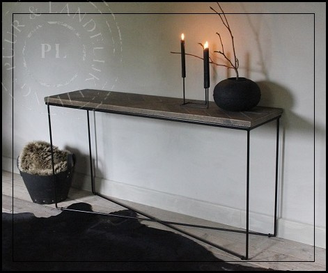 Maatwerk / indudstrieel / sidetable / BLINK old wood