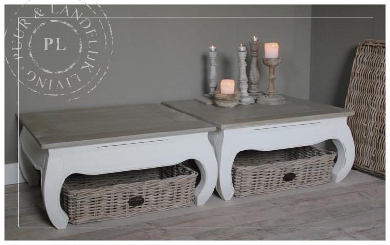 Landelijke OPIUM tafel / old weathered top
