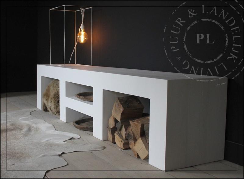 Maatwerk / tv meubel PURE WHITE