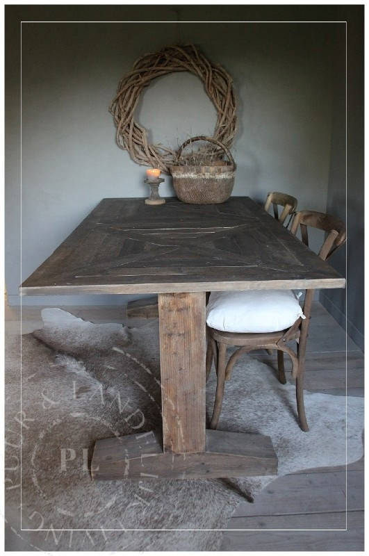 Landelijk eettafel / FALL / old wood