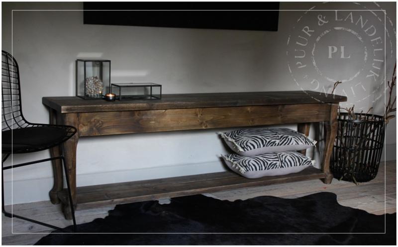 Maatwerk landelijke sidetable / tv meubel WOOD