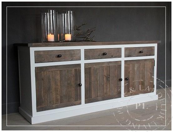 Maatwerk / stoer dressoir RIVER / old wood