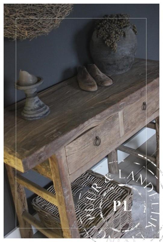 Oud Houten Side Table.Oude Houten Sidetable Verkocht Uniek Antiek Puur