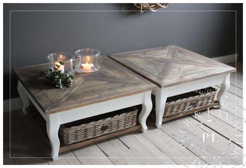 Maatwerk / landelijke salontafel / SUBLIEM / old wood