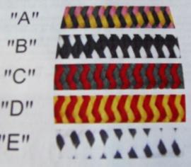 F.R.A. Knoophalster BABIA  maat Cob  kleur D  rood/geel OP=OP