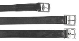 STIJGBEUGELRIEM LEDER 145 cm zwart OP=OP
