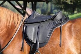 Mijn pony heeft een korte rug. Zijn Barefoot-zadels te lang?