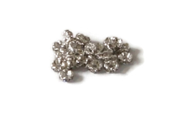 STR.109 - STRASS RONDELLEN SILVER METAL / 5 X 2MM