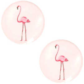 CABOCHON FLAMINGO ROSE / 20MM