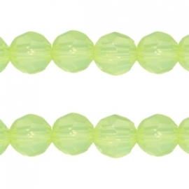 GR.35 - OPAAL ACRYL FACET  ROND LIME GROEN / 6MM