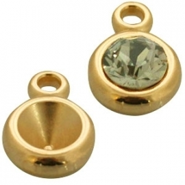 SS39 -  PUNSTEEN SETTING  GOUD / 8MM