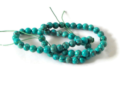 """NST.19 - JASPIS """"NATURAL AFRICAN TURQUOISE"""" GROEN / 6MM"""