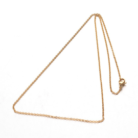 """TB - RVS KETTING """"CABLE CHAIN"""" GOUD / 50CM"""