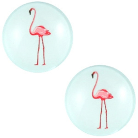 CABOCHON FLAMINGO LICHT BLAUW / 20MM