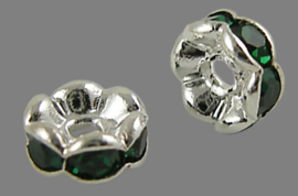 STR.201 - STRASS RONDELLEN EMERALD GROEN / 6 X 3MM