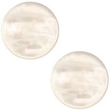 "10 - POLARIS CABOCHON PARELMOER ""HONEY BEIGE"" / 12MM"