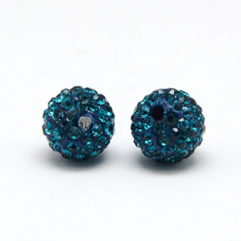 STR - RHINESTONE STRASS KRALEN BLUE ZIRCON / 4MM