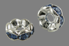 STR.205 - STRASS RONDELLEN LIGHT SAPPHIRE  / 6 X 3MM