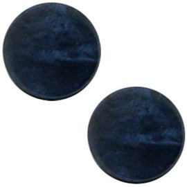 "8 - POLARIS CABOCHON PARELMOER ""MONTANA BLUE ""/ 12MM"