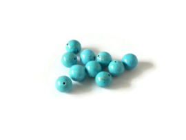 NST.22 - HOWLIET ROND TURQUOISE BLAUW / 10MM