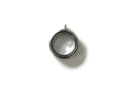 FLOATING MEMORY LOCKET HANGER  PLATINUM / 30MM