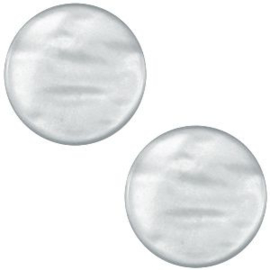 "POL.12 - POLARIS CABOCHON PARELMOER ""GREY"" / 12MM"