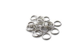 TB.104 - METALLOOK RINGEN ZILVER / 12 X 2MM