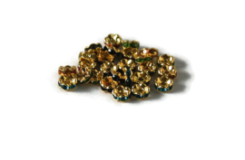 STR - MIX STRASS RONDELLEN GOUD / 6MM