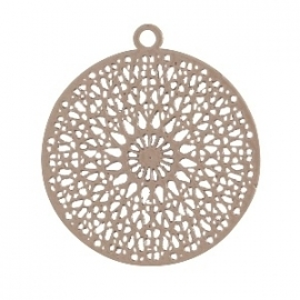 BOHEMIAN HANGER ROND TAUPE / 18MM