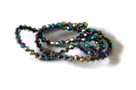 MC.13 - GLASKRALEN BICONE FACET MULTICOLOR / 4MM