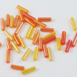 "RO.78 - GLASSTAAFJES ""ORANGE  RAINBOW"" / 6 X 1,8MM"