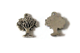 BED.85 - BEDELTJE TREE OF LIFE ANTIEK ZILVER / 20 X 15MM
