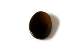 NST.3 - NATUURSTEEN KRAAL OVAAL BLACK BROWN / 40 X 30MM